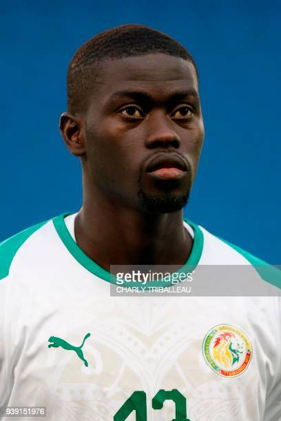 Senegal's Pape Alioune Ndiaye poses before a friendly football match between Senegal and Bosnia at the Stadium Oceane in Le Havre northwestern France...