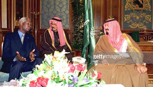 Senegal's President Abdou Diouf meets with Saudi Crown Prince Abdallah Ibn Abdel Aziz 15 February in Riyadh Diouf received the King Faisal prize...