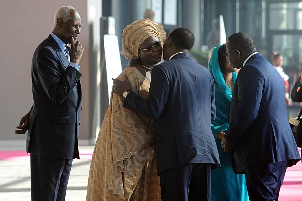 Senegals president macky sall r and tchads president idriss deby senegals president macky sall r and tchads president idriss deby c greet m4hsunfo