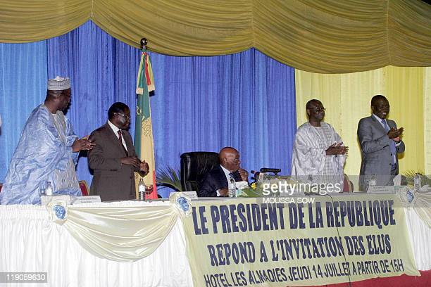 Senegal's Prime Minister Souleymane Ndene Ndiaye Senate's President Pape Diop Senegal's President Abdoulaye Wade Senegal's National Assembly...