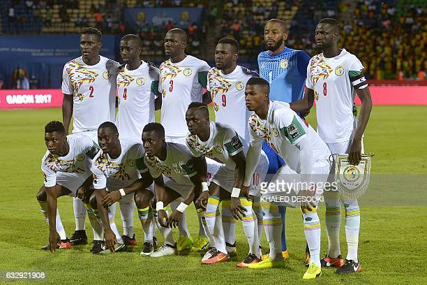 Senegal's squad defender Kara Mbodji defender Cheikh M'Bengue defender Kalidou Koulibaly forward Mame Biram Diouf goalkeeper Abdoulaye Diallo...