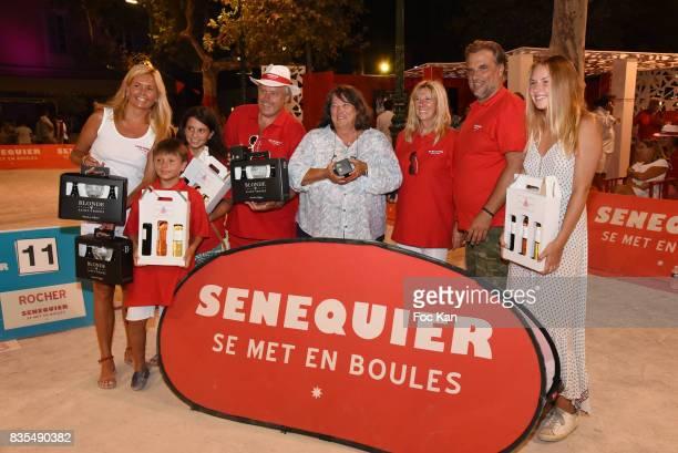 Senequier President Thierry Bourdoncle his wife Ariane de Senneville children and guests attend the Trophee Senequier Petanque competition at Place...