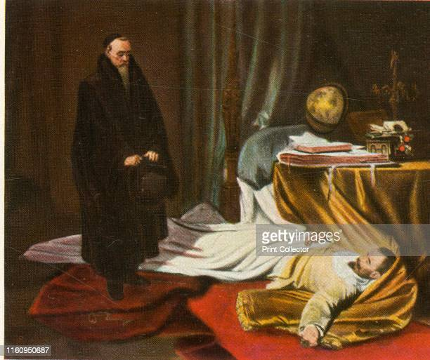 Seni with the body of Wallenstein 26 February 1634 'Seni An Der Leiche Wallensteins 26 Februar 1634' The Italian astrologer and physician Gian...