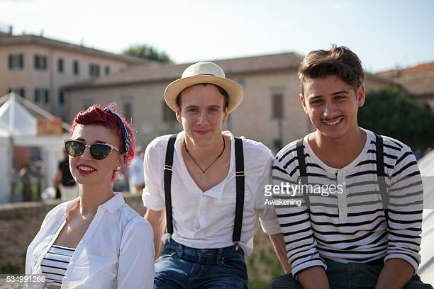 Senigallia Italy The Summer Jamboree is an international music festival focused on the US music and culture of the fifties In the photo people...