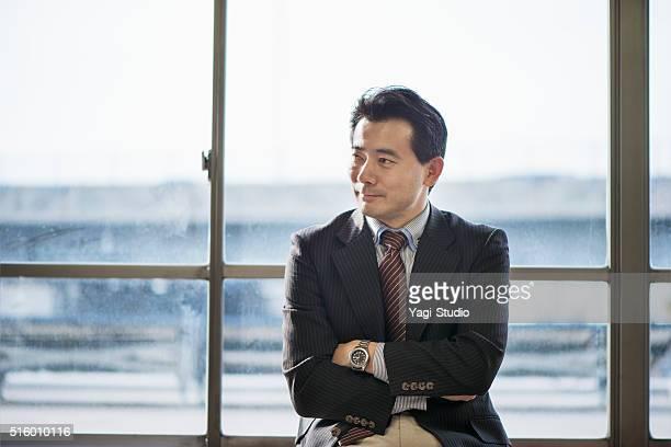 シニア大人のビジネスマンのポートレート - 静かな情景 ストックフォトと画像