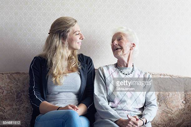 senior adult getting care and assistance - social services stock photos and pictures