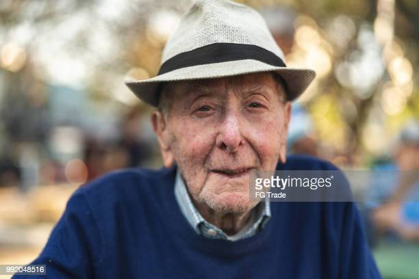 senior adult male portrait; he is 91 years old - 90 plus years stock pictures, royalty-free photos & images
