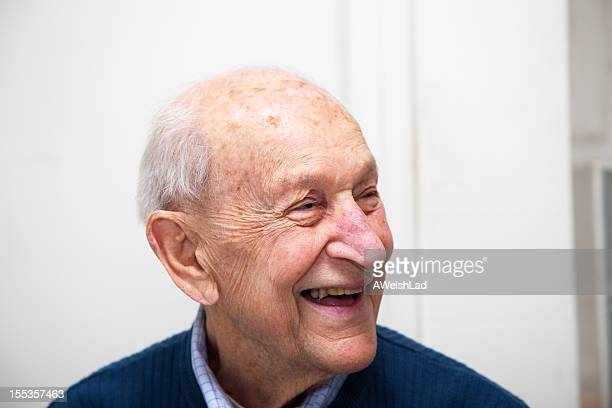 Senior adult male portrait laughing