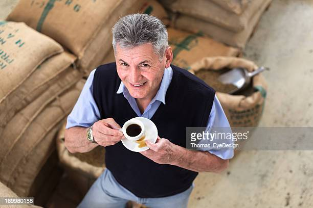Senior Adult owner of a Coffee Roastery