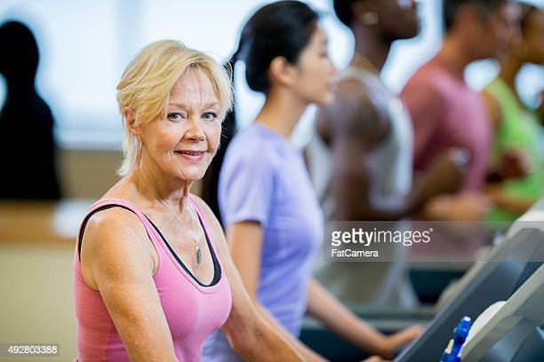 Senior Adult Woman Working Out