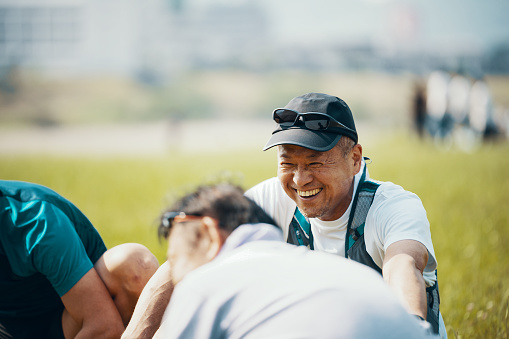 Senior adults before or after doing sports - gettyimageskorea