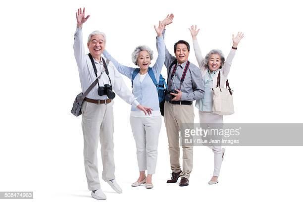 Senior adults traveling