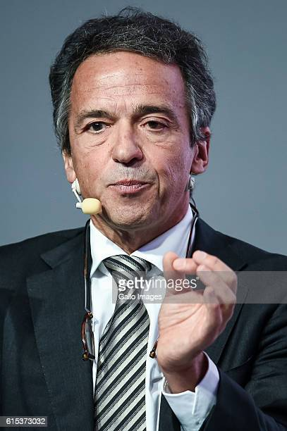 Senior Adviser in the Research Department of the European Central Bank Filippo di Mauro attends the meeting called Central Europe's Growth...