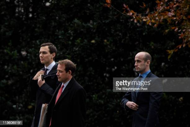 Senior advisor Jared Kushner Outgoing Director of Oval Office operations Jordan Karem and Assistant to the President and Senior Advisor for Policy...