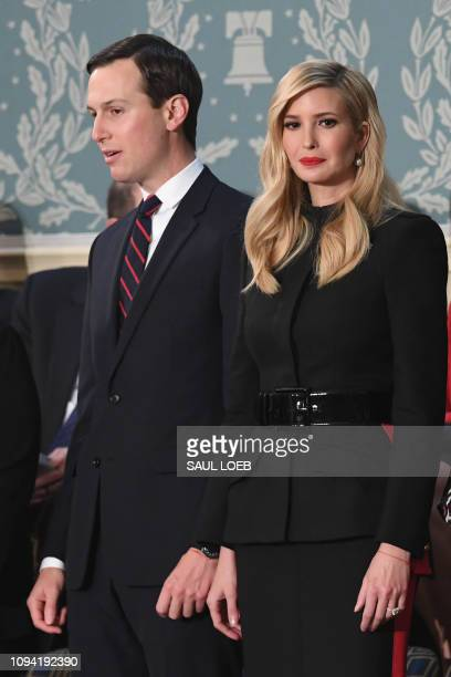 Senior Advisor to the President Ivanka Trump and husband Senior Advisor to the President Jared Kushner arrive to attend the State of the Union...