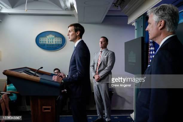 Senior Advisor to the President Jared Kushner Advisor to the President on SerbiaKosovo Richard Grenell and National Security Advisor Robert O'Brien...