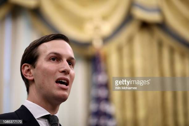 Senior advisor to the President Jared Kushner delivers remarks during the signing ceremony for the First Step Act and the Juvenile Justice Reform Act...