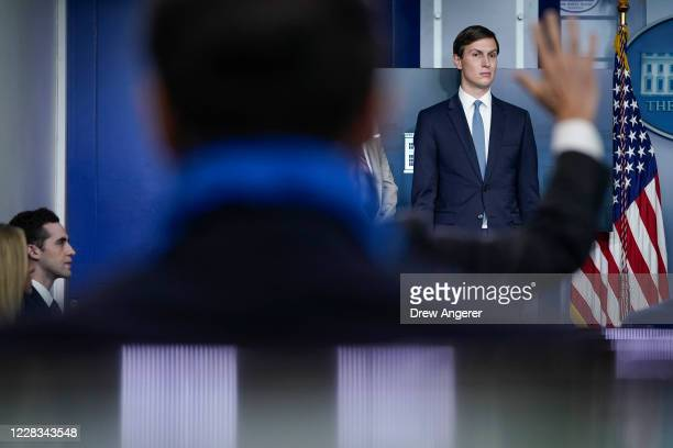 Senior Advisor to the President Jared Kushner participates in a press briefing at the White House on September 4 2020 in Washington DC The...