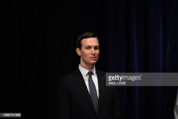 Senior Advisor to the President of the United States Jared Kushner is pictured before being decorated with the Mexican Order of the Aztec Eagle by...