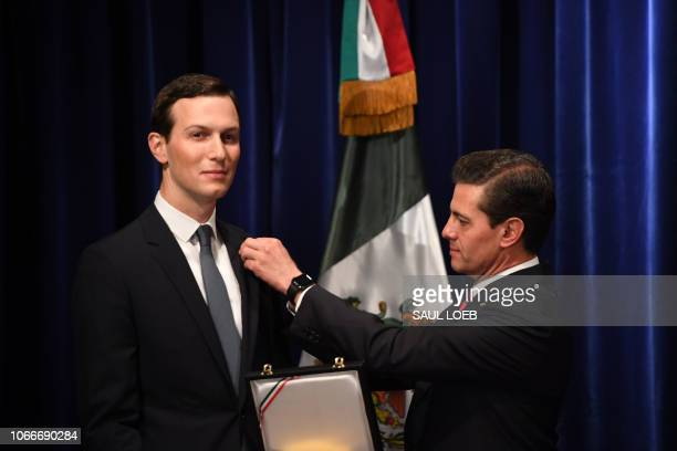 Senior Advisor to the President of the United States Jared Kushner receives the Mexican Order of the Aztec Eagle from Mexico's President Enrique Pena...