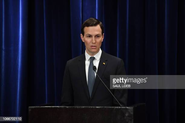 Senior Advisor to the President of the United States Jared Kushner speaks during a ceremony in which he was decorated with the Mexican Order of the...