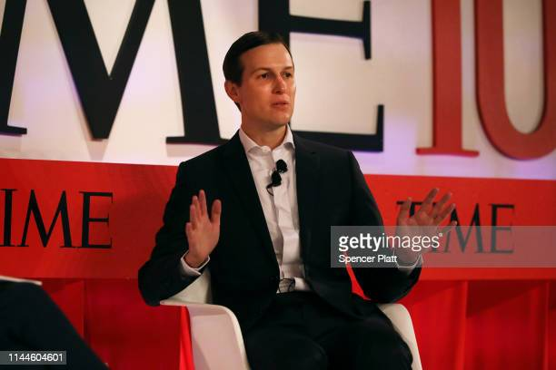 Senior advisor to the President of the United States Jared Kushner speaks to White House correspondent Brian Bennett at the TIME 100 Summit on April...