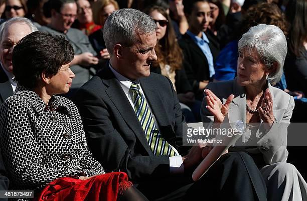 Senior Advisor to the President Valerie Jarrett White House Chief of Staff Denis McDonough and Health and Human Services Secretary Kathleen Sebelius...