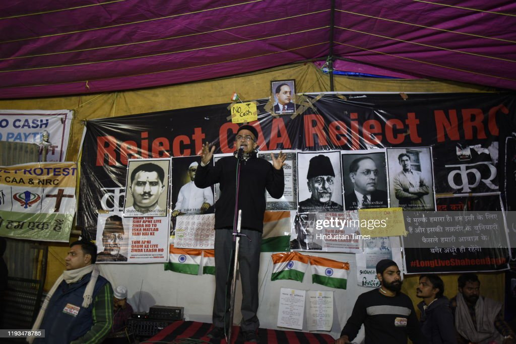 Sit-In Protest Against CAA And NRC At Shaheen Bagh : News Photo