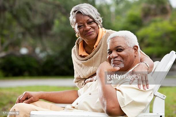 Senior afrikanische amerikanische Paar