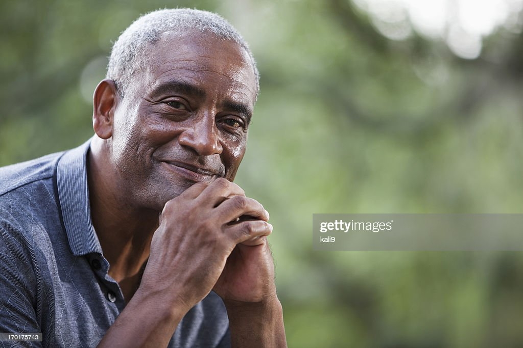 Senior African American man : Stock Photo