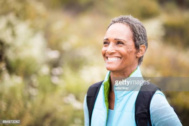 Senior African American Woman Exploring