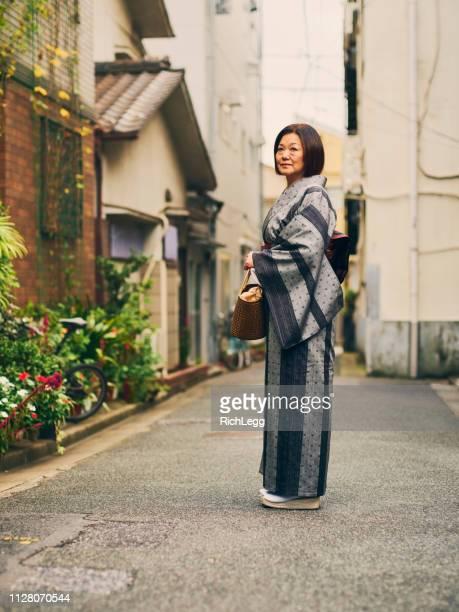 Senior Aged Japanese Woman in Kimono