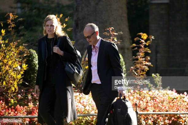 Senior aide to Prime Minister Boris Johnson Dominic Cummings arrives in Downing Street ahead of a cabinet meeting on September 1 2020 in London...