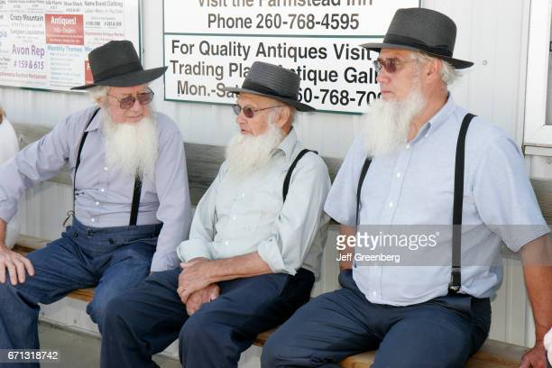 Senior Amish men at Shipshewana Flea Market