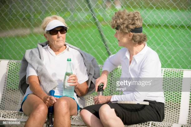senior and mature woman tennis players - tennis player stock pictures, royalty-free photos & images