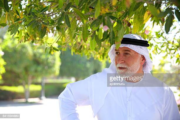 Senior Arab man in portrait