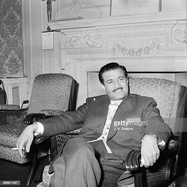 Senior assistant military attache Colonel Abdul Kadir Faik at the Iraqi London embassy 1958 He is representing the new Iraqi regime after the...