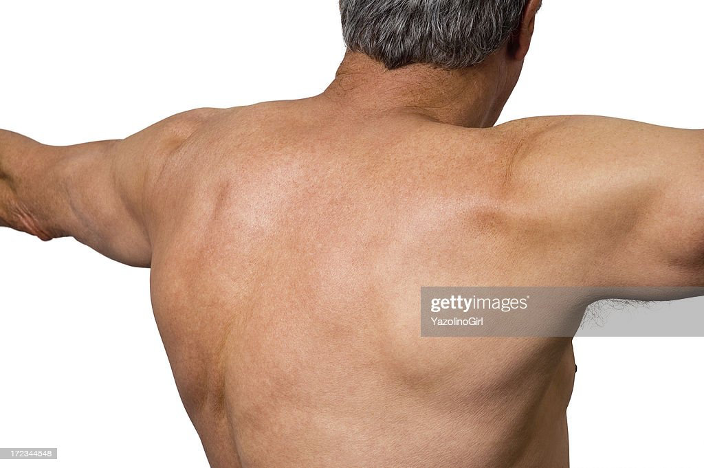 Senior Athlete - Upper Back (clipping path) : Stock Photo