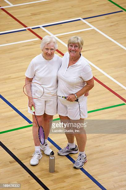 Senior badminton players