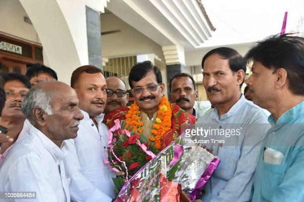 Senior Bihar Congress leader Madan Mohan Jha appointed as President of Bihar Pradesh Congress Committee at Sadaquat Ashram on September 18 2018 in...
