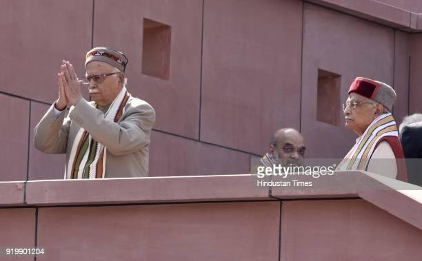Senior BJP Leader LK Advani and Murli Manohar Joshi visit BJP Headquarter inaugurated by Prime Minister Narendra Modi at 6A Deen Dayal Upadhyay Marg...