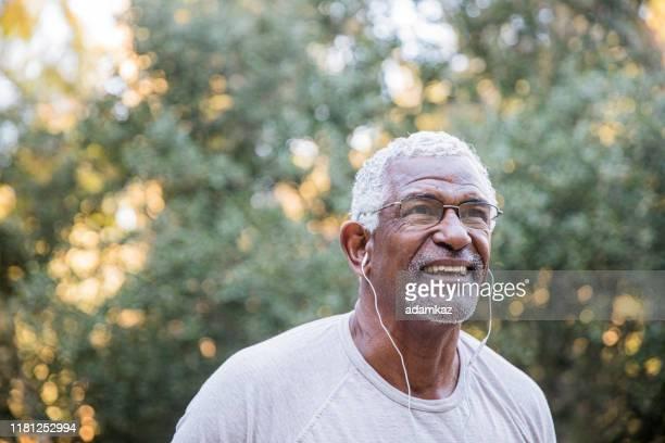 Senior Black Man Exploring