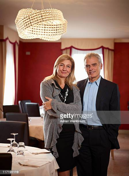 Senior Business Couple in restaurant