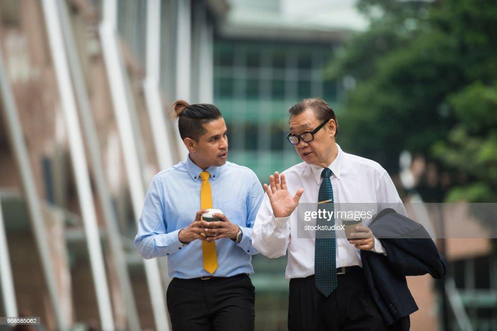 Senior business menortship : Stock Photo