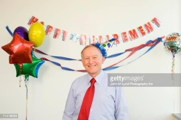 Senior businessman at his retirement party
