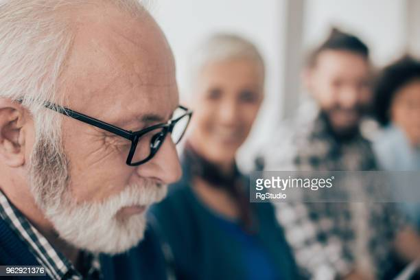 Senior-Unternehmer, close-up