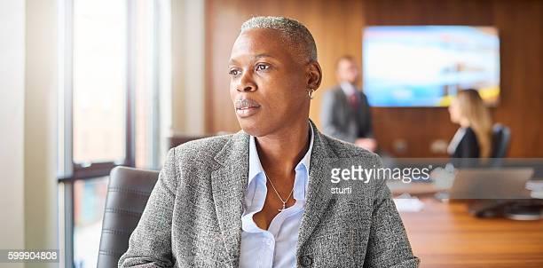 senior businesswoman in boardroom