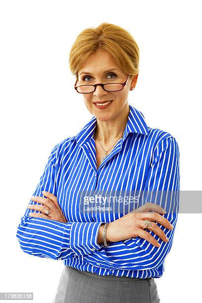 senior businesswoman - older redhead stock pictures, royalty-free photos & images