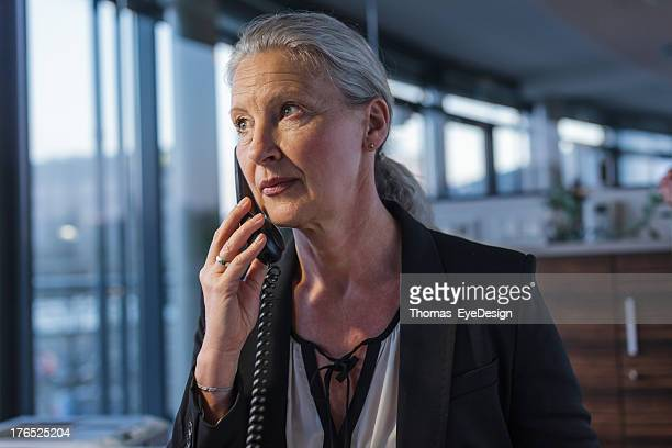 Senior Businesswoman working late
