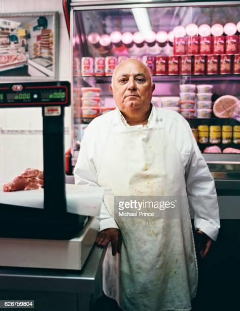 senior butcher - butcher's shop stock pictures, royalty-free photos & images